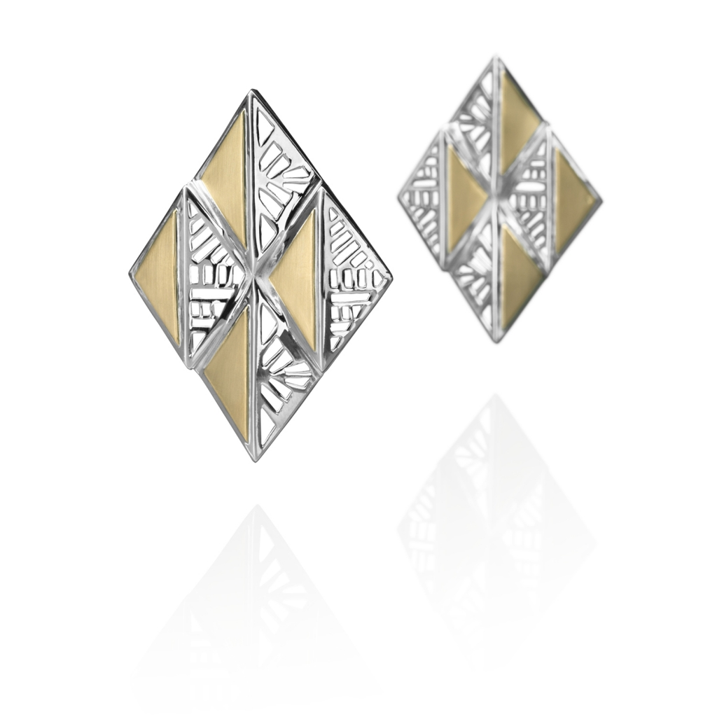 Architectural Earrings by Azza Fahmy