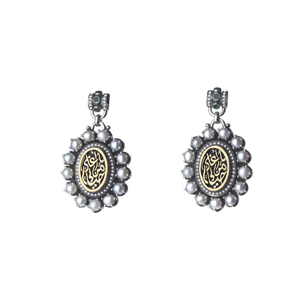 Cameo Earrings by Azza Fahmy