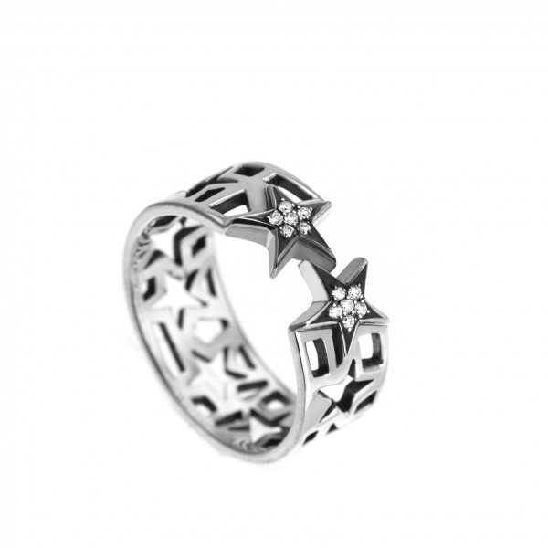 Star Stack Ring by Azza Fahmy