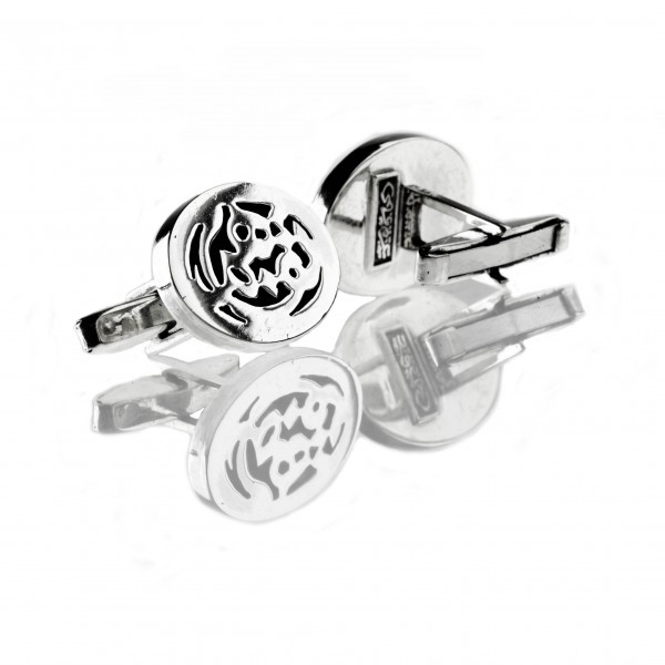 Sterling Silver Cufflinks with Calligraphy by Azza Fahmy