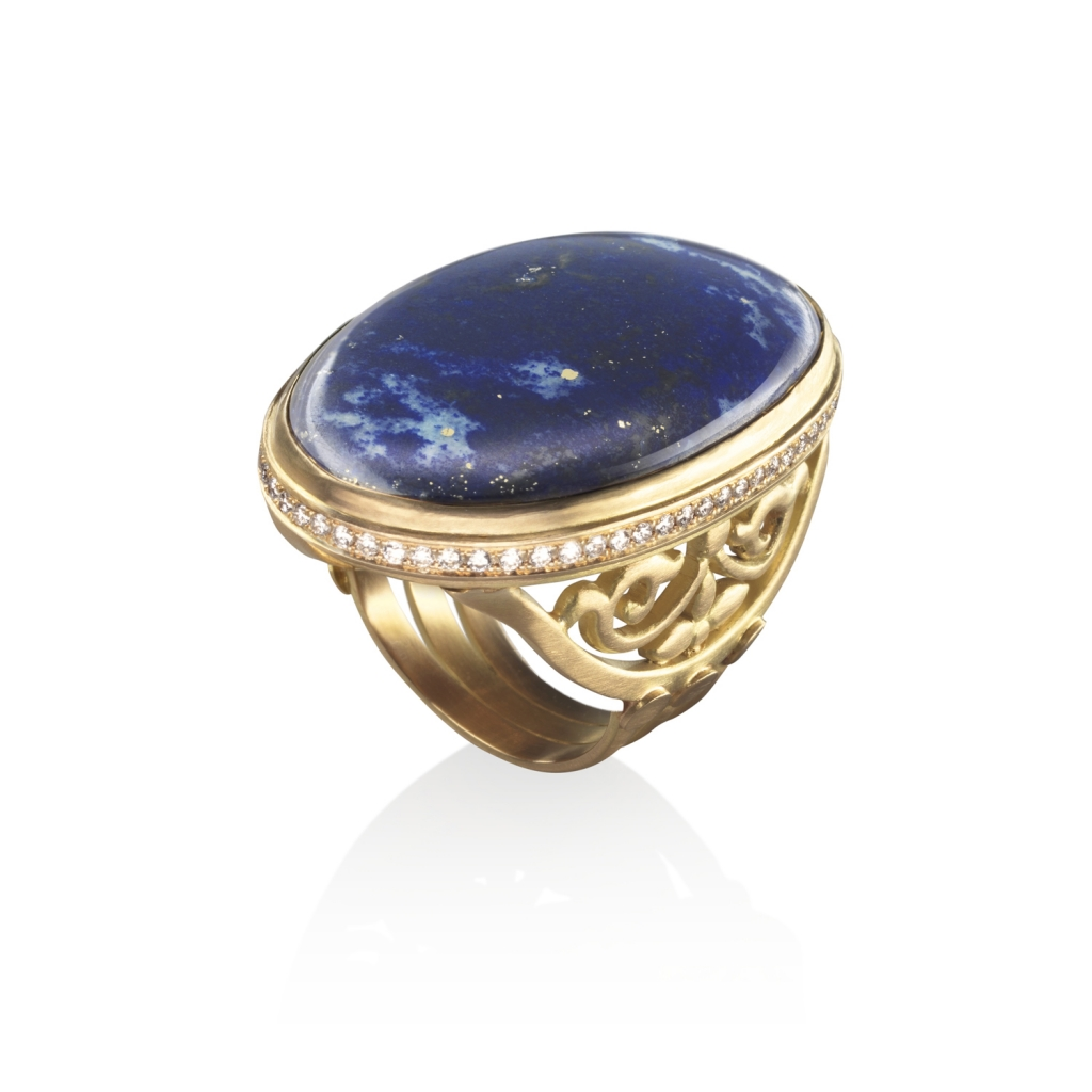 The Ajoure Cocktail Ring by Azza Fahmy