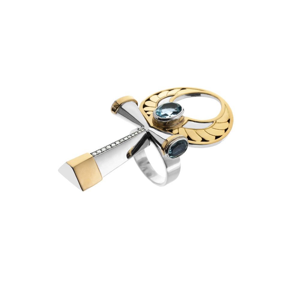 Key of Life Ring by Azza Fahmy
