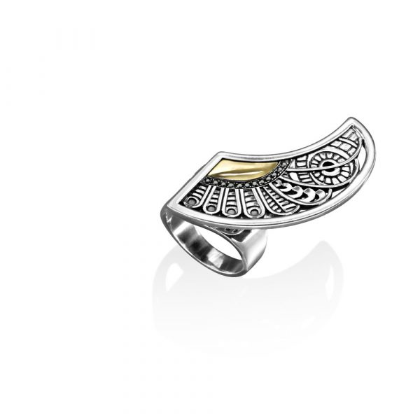 Cosmic Wing Ring (Left) by Azza Fahmy