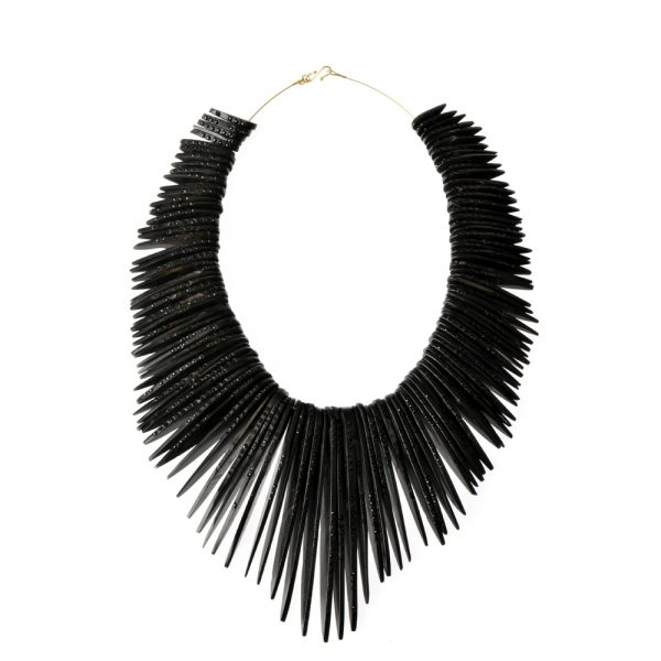 Limited Edition Whitby Jet Feather Necklace