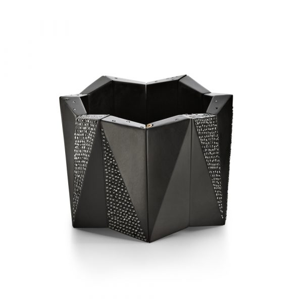 Whitby Jet Cuff with Black Diamonds by Jacqueline Cullen
