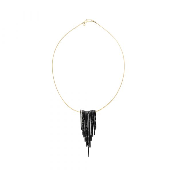 Whitby Jet Feather Necklace