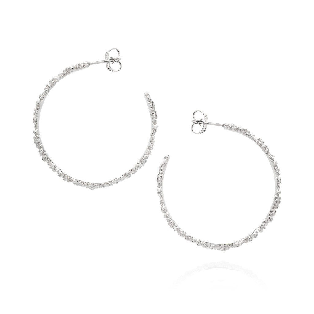 Coralline Circle Hoop Earrings by Ornella Iannuzzi
