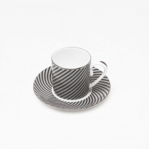 Carbon Coffee Cup and Saucer