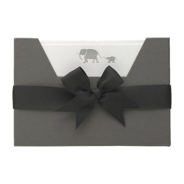 Elephants Note Card Wallet