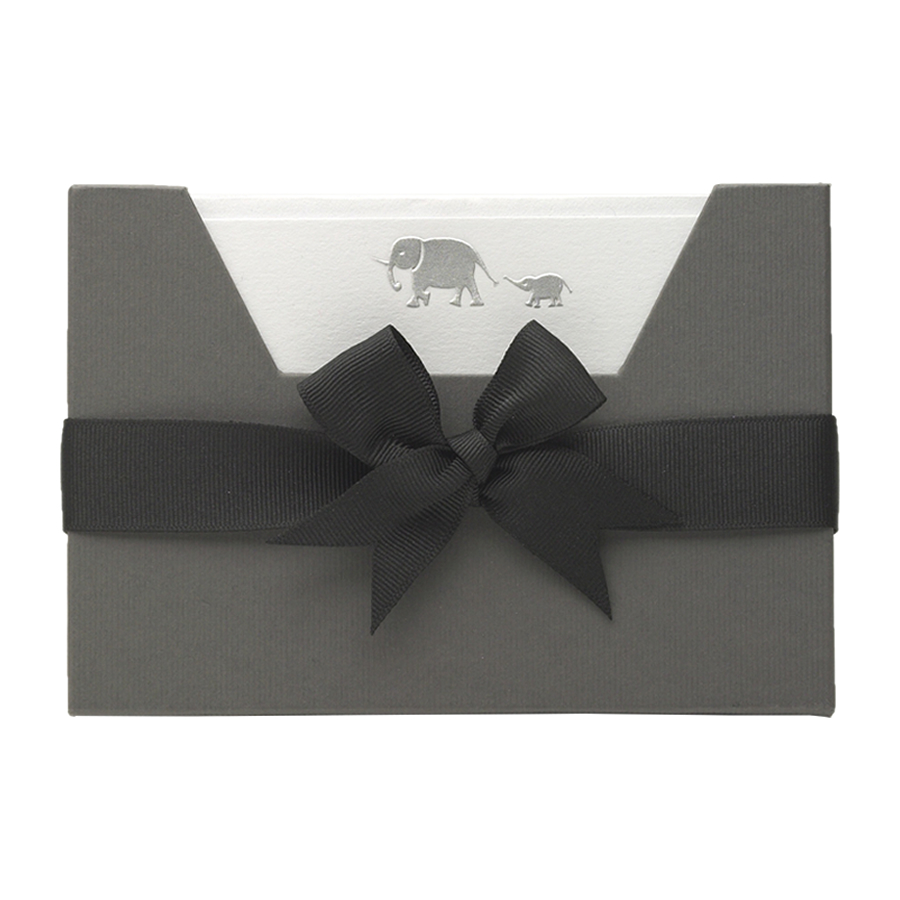 Elephants Note Card Wallet by Julie Bell Stationery