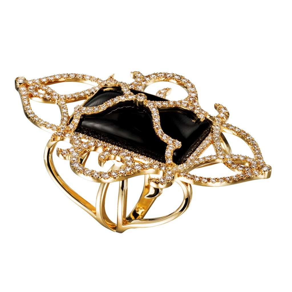 Alchemist – Diamond Ring with Black Onyx