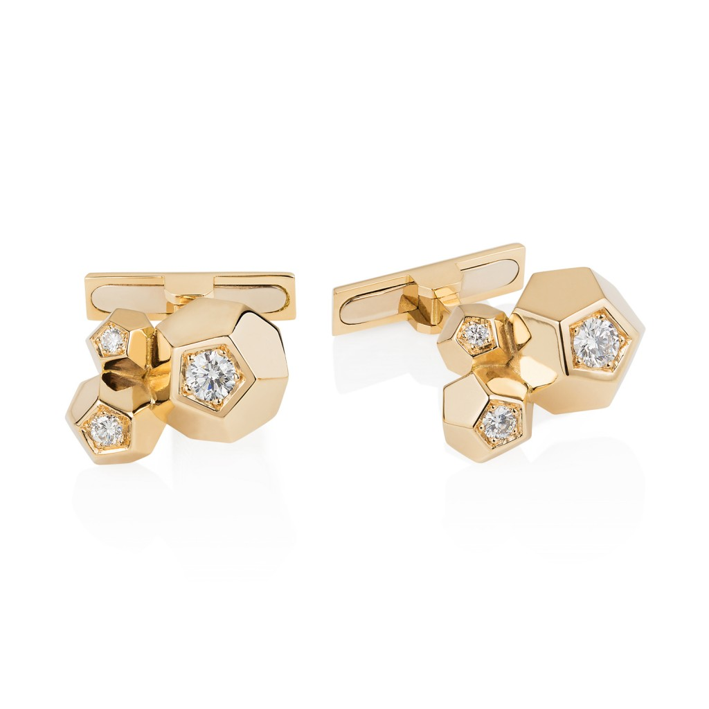 3 Crystal Cufflinks by Ornella Iannuzzi