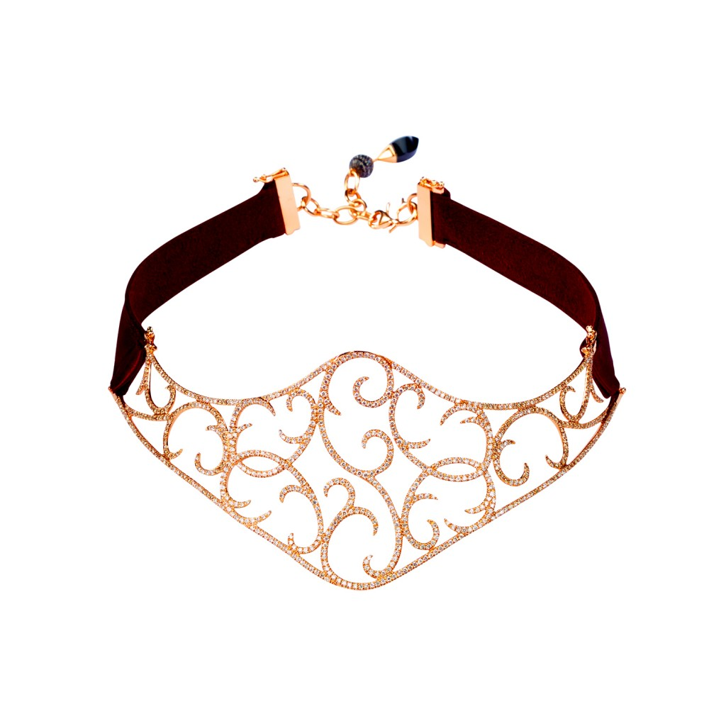 Exclusive – Jaipur Rose Gold Choker by Dionea Orcini