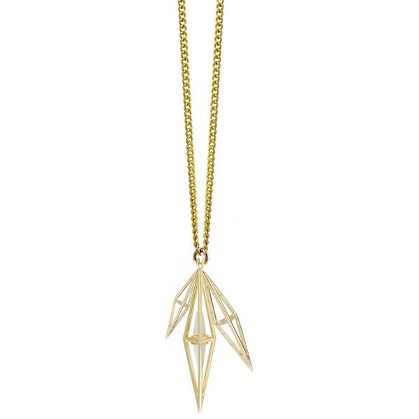 Large Tetrahedron Cluster Necklace