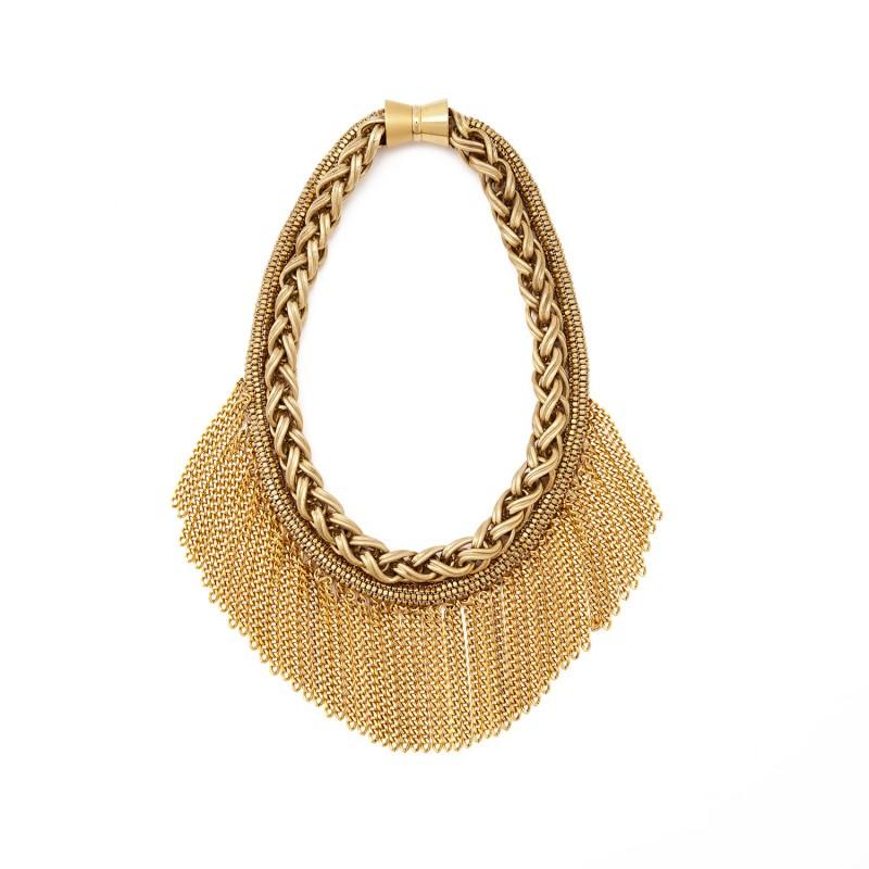 Maasai fringe necklace web
