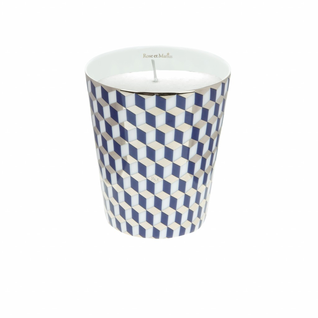 Mini Tometo Blue Scented Candle by Rose et Marius
