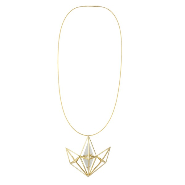 Fan Tetrahedron Necklace by KATTRI
