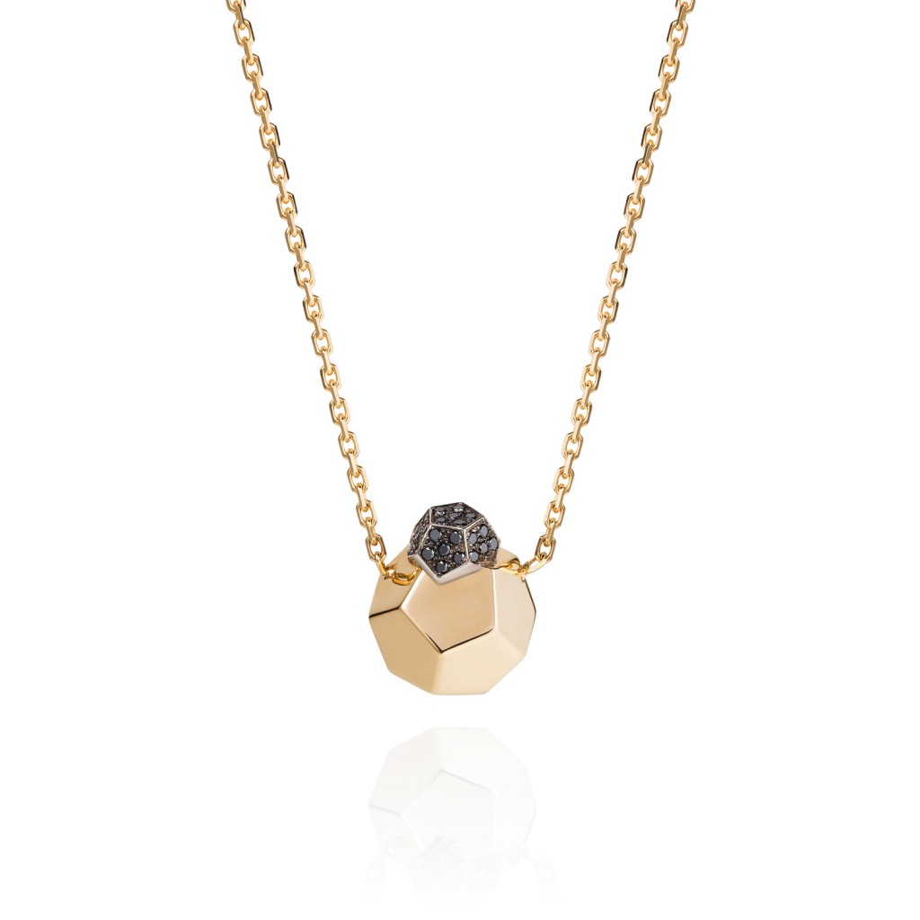 Rock It! Pendant Necklace with Black Diamonds by Ornella Iannuzzi