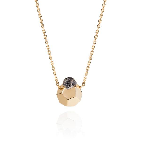Rock It! Pendant Necklace with Black Diamonds by Ornella Iannuzzi