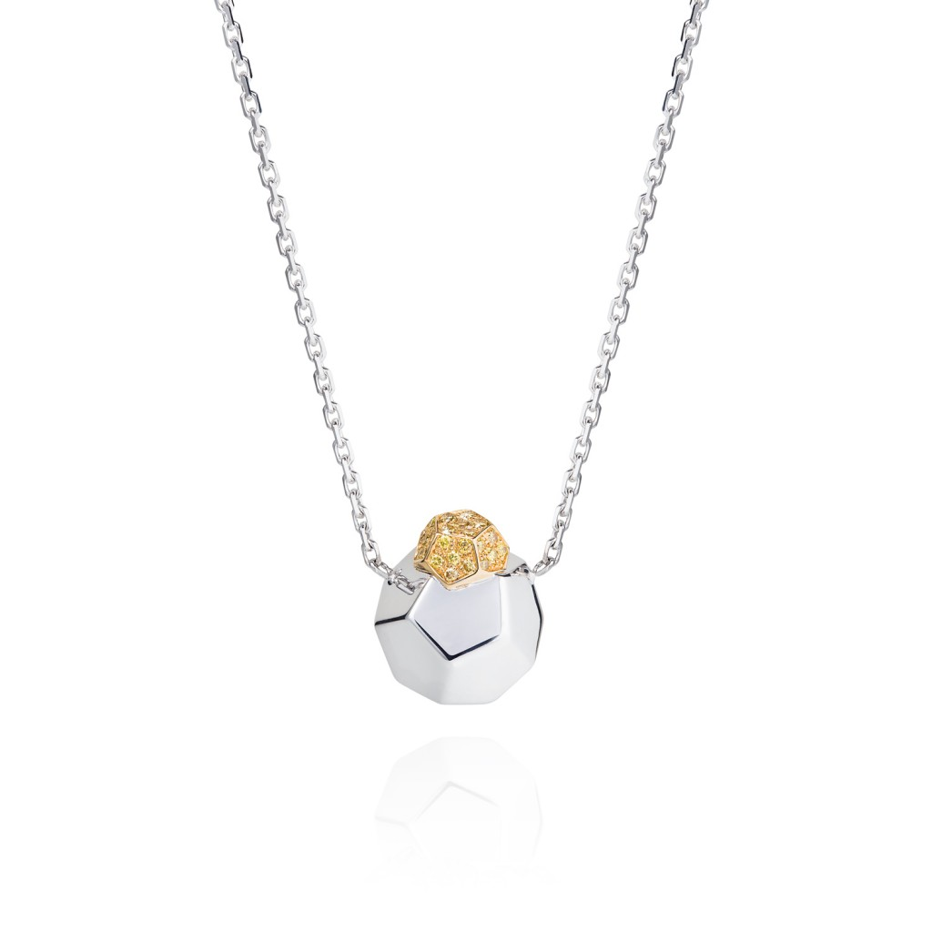 Pendant Necklace with Yellow Diamonds by Ornella Iannuzzi