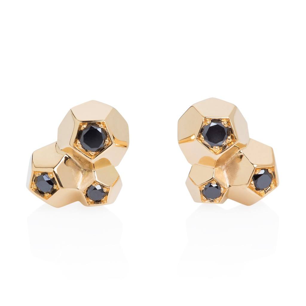 3 Crystals Stud Earrings