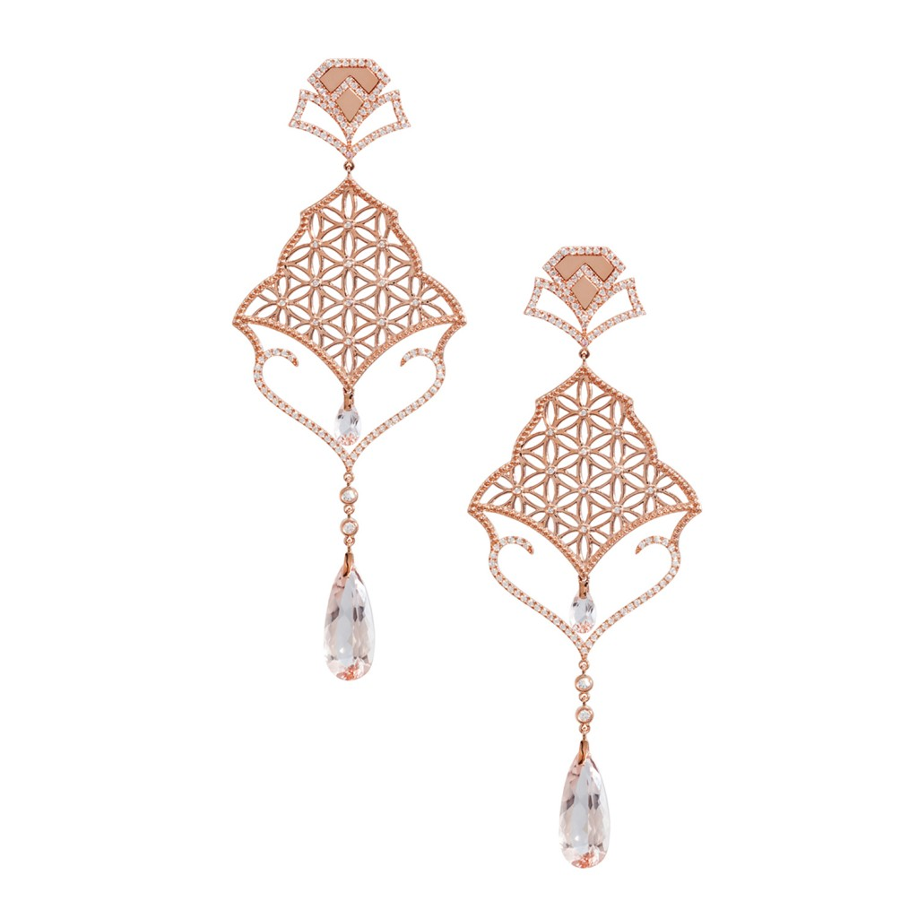 Semiramis – Rose Gold Earrings