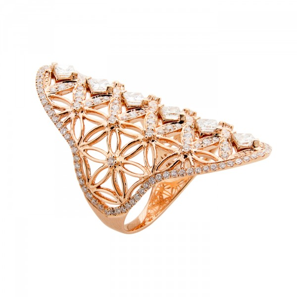 Semiramis – Rose Gold Ring by Dionea Orcini