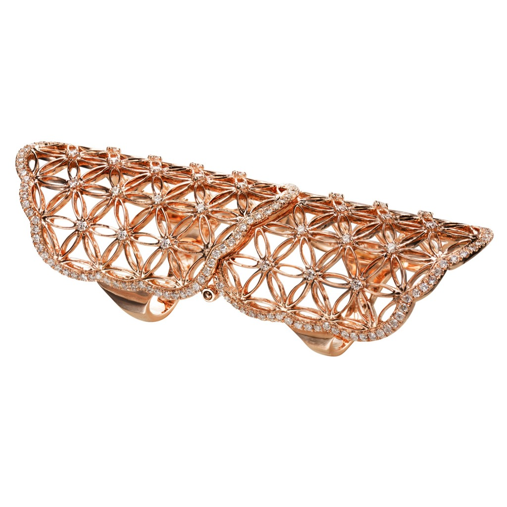 Semiramis – Double Rose Gold Ring by Dionea Orcini