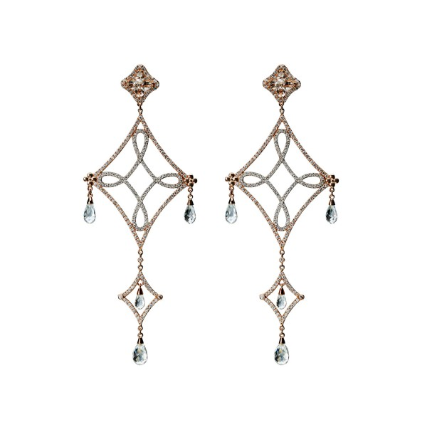 Long Lasya Earrings – with briolettes by Dionea Orcini