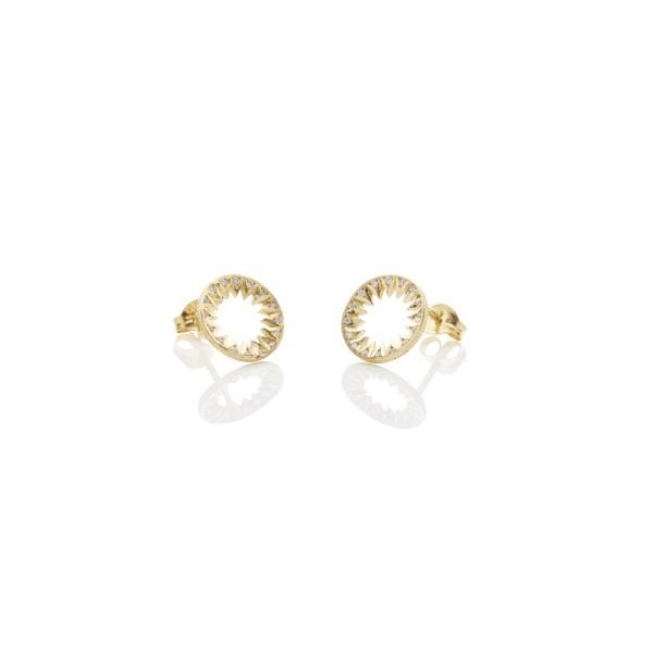 Diamond Taxila Stud Earrings