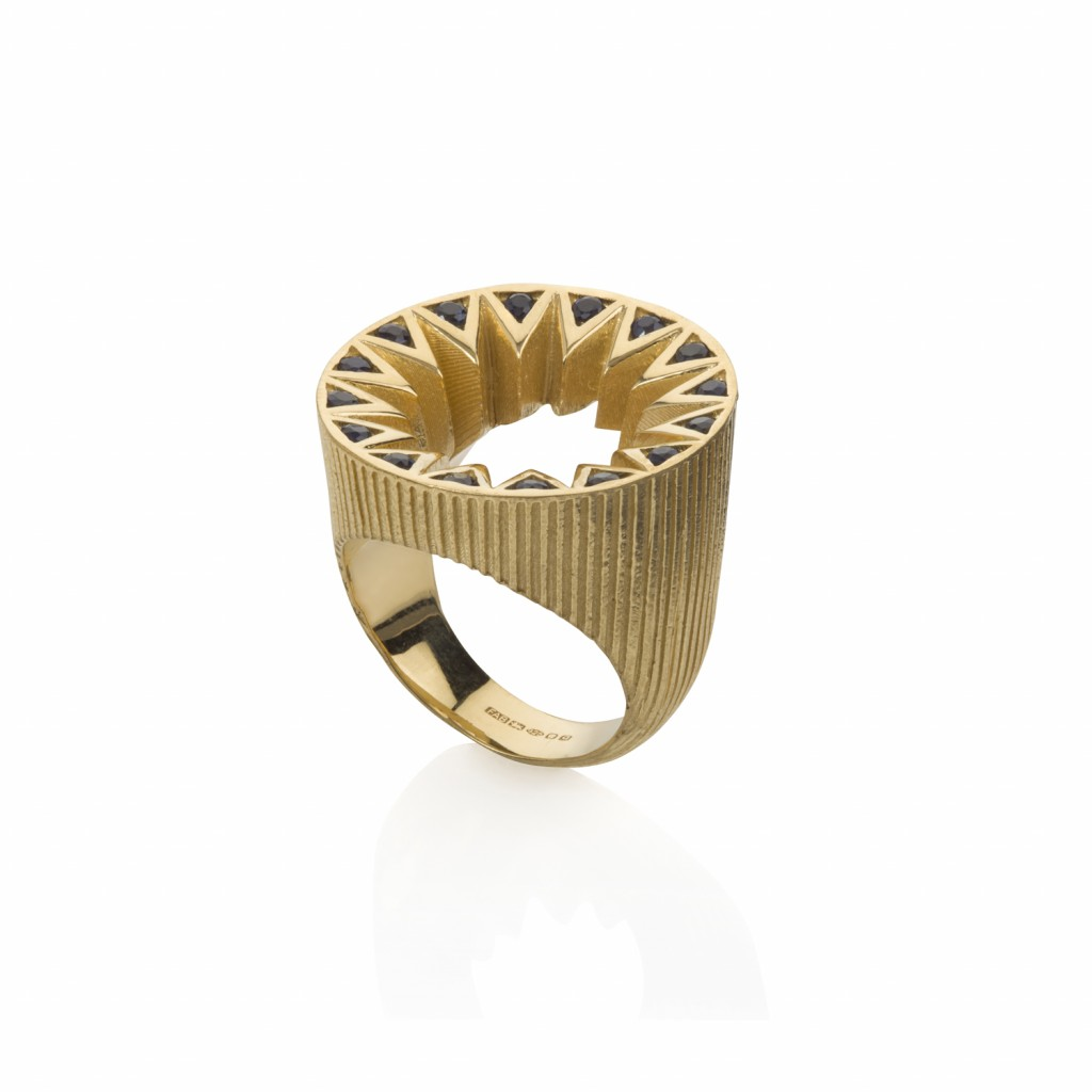 Taxila Cocktail Ring by Flora Bhattachary