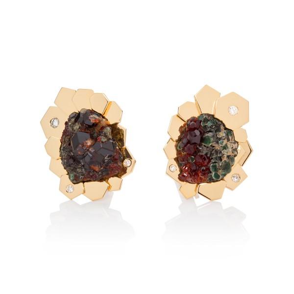 Exclusive Garnet and Diamond Earrings