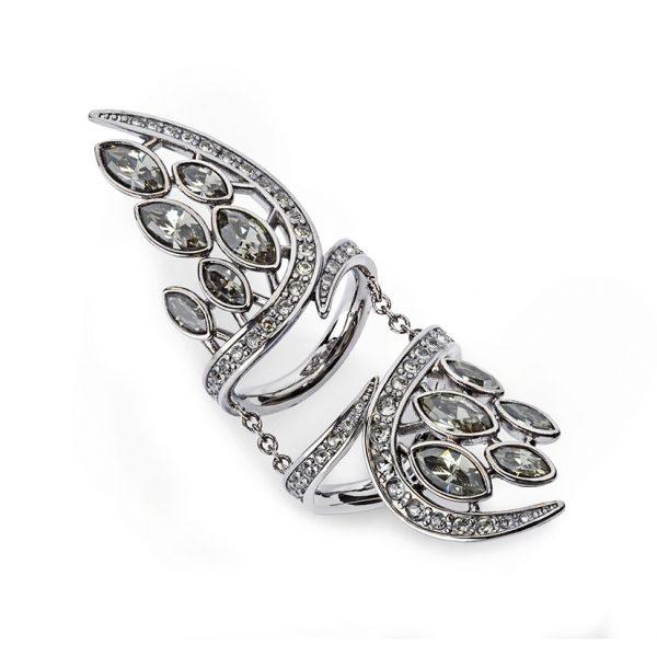 Swift Double Ring – Black Diamond