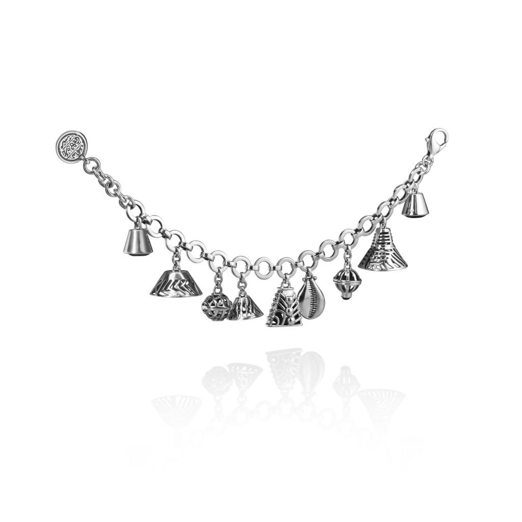 Bells Silver Charm Bracelet by Azza Fahmy