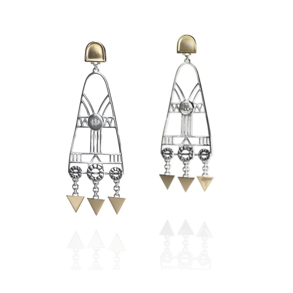 Chandelier Geometric Earrings