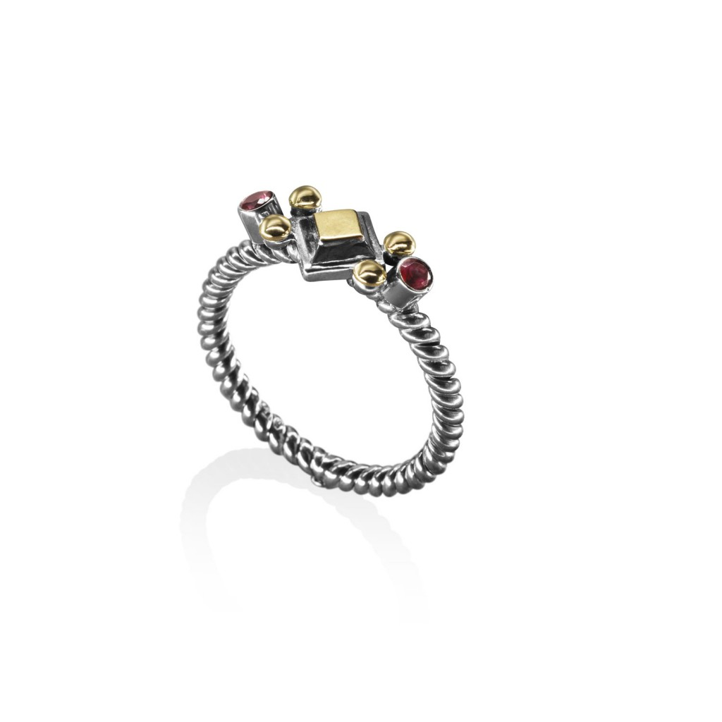 Stackable Geometric Ring by Azza Fahmy