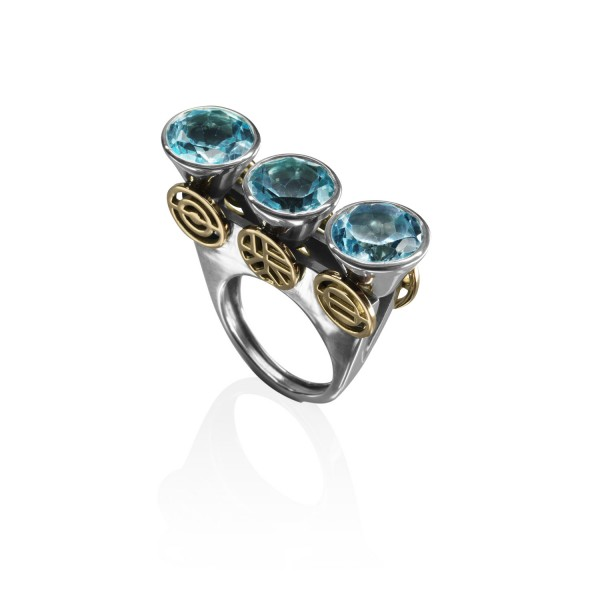 Geometric Stack Ring by Azza Fahmy