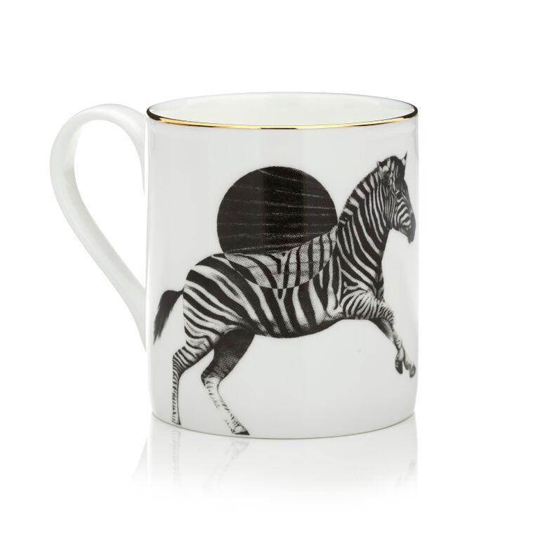 Zebra Mug by Sasha Tugolukova