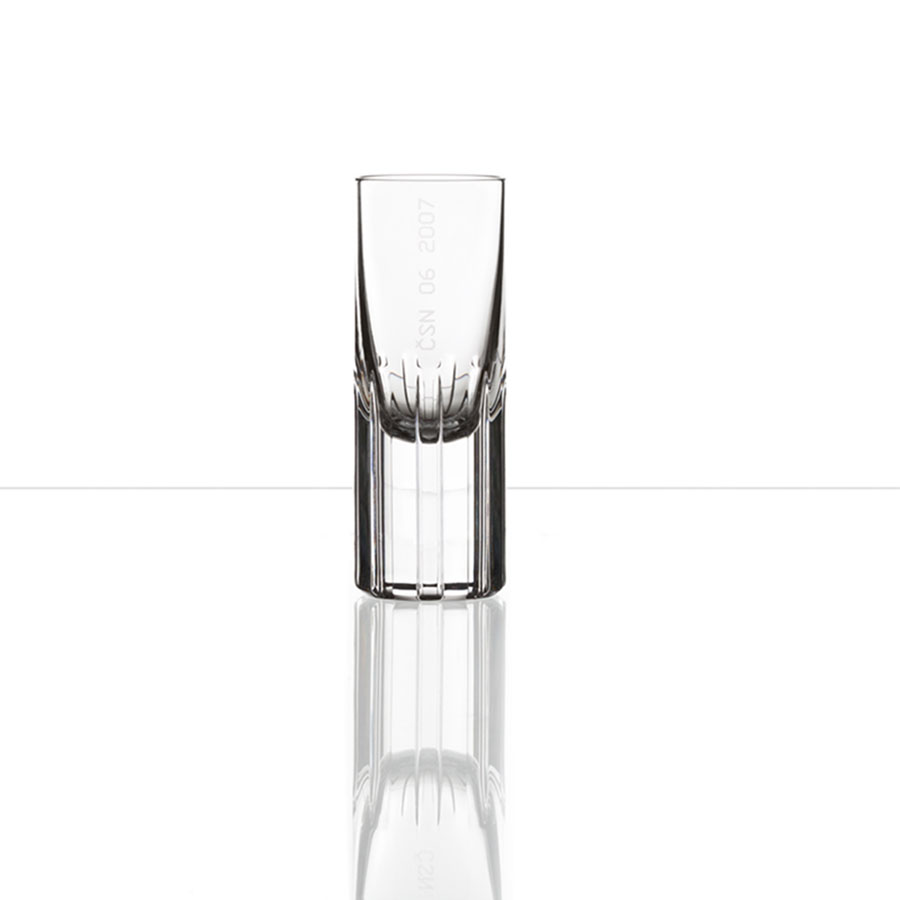 Splined Shaft Shot Glass set of 2 by Bomma Crystal
