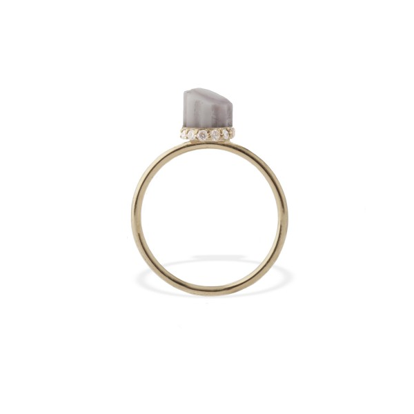 Tiny Marble Pillar Ring by Completedworks