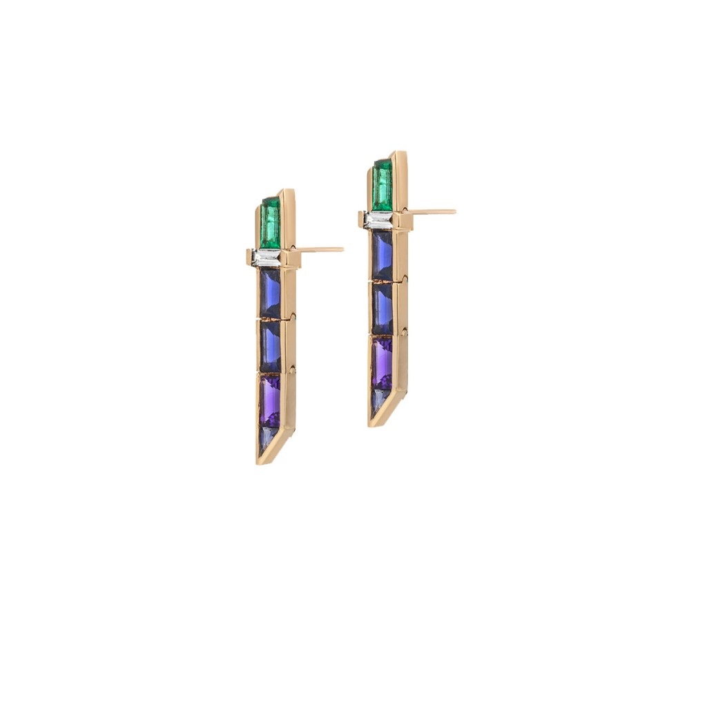 Electric Night – Short Drop Earrings by Tomasz Donocik