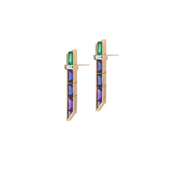 Short Drop Electric Night Earrings