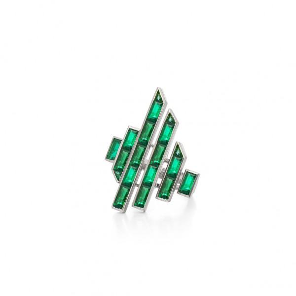 Emerald Disc Ring