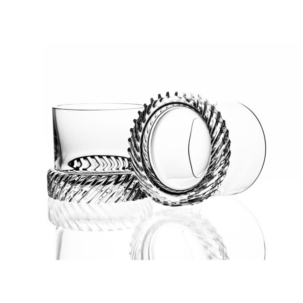 Module Two Crystal Whisky Tumblers by Bomma Crystal
