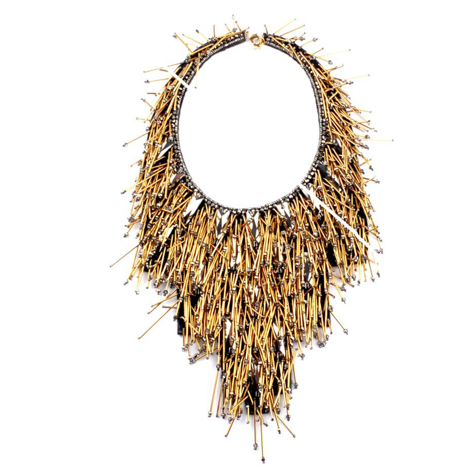 Riviera Statement Beaded Necklace by Begada