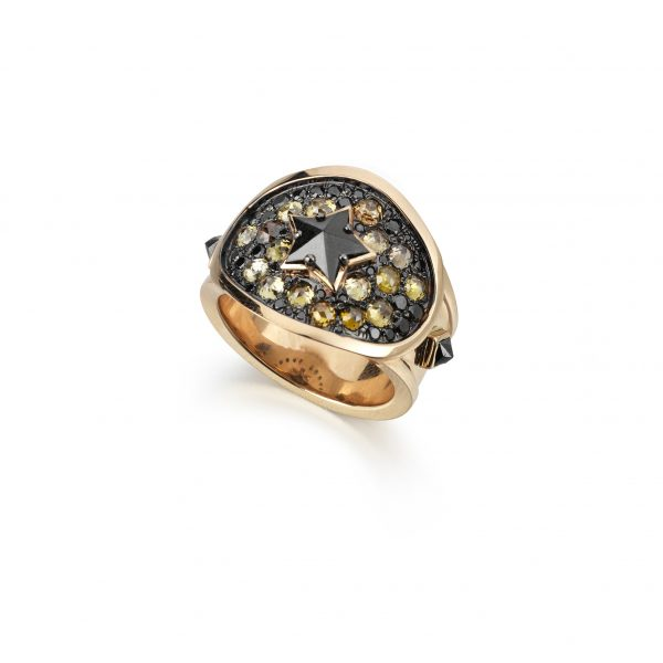 Black Star Cigar Ring by Tomasz Donocik