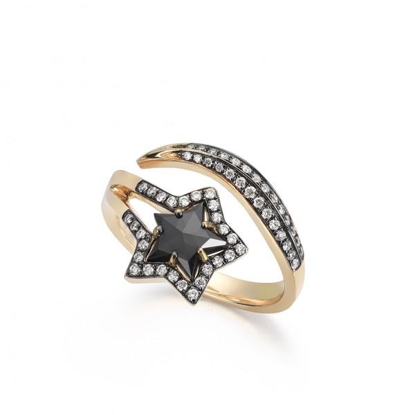 Black Single Star Ring