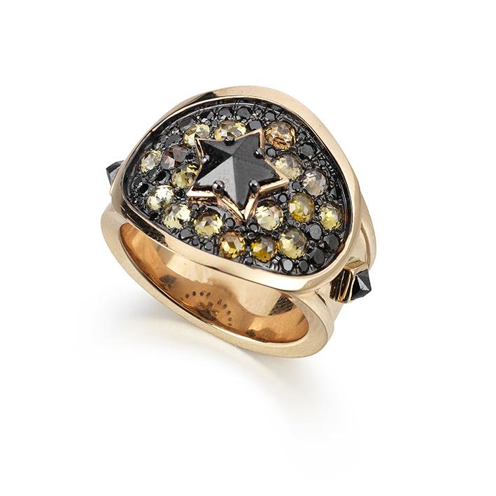 Black Star Cigar Ring
