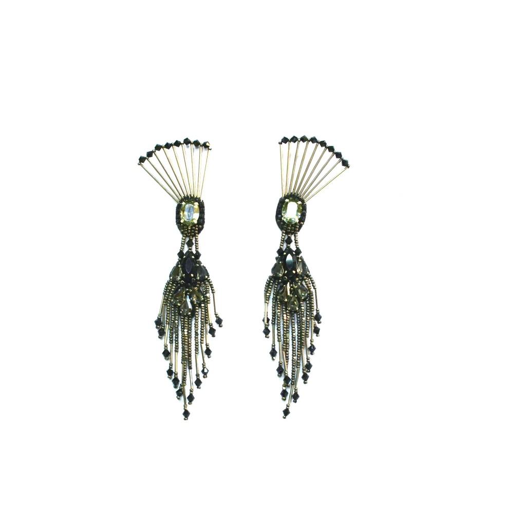 Dancing Peacock Earrings by Begada
