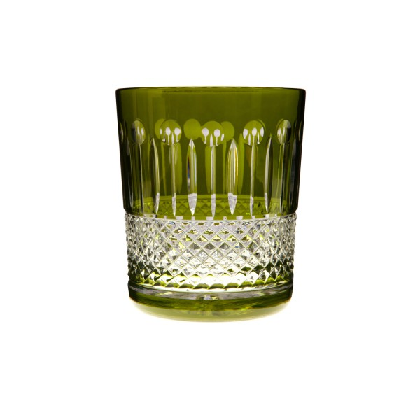 Old Fashioned Tumbler Set of 2 – Olive Green by Gurasu Crystal